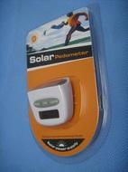 Шагомер на солнечных батареях.