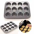 Форма металлическая для выпечки кексов, булочек, 12 ячеек